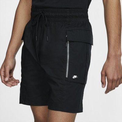 S.G NIKE NSW 黑 工裝 口袋 短褲 工作褲 運動 休閒 穿搭 復古 男款 DD1080-010
