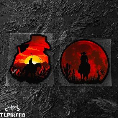 創意貼紙圖案TLP反光車貼 R星Rockstar荒野大鏢客2救贖Red Dead單機游戲貼紙