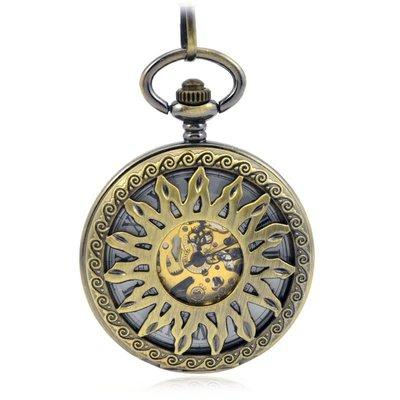 火焰太陽輪中空雙翻蓋.復古機械懷表鏤空男女士學生古董禮品手表