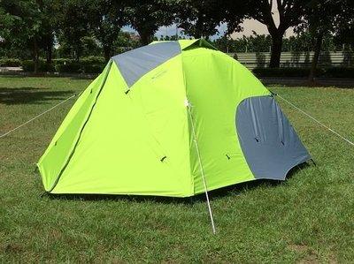 【SAMCAMP 噴火龍】 # 豪華6~8人(300型)雙門銀膠蒙古包帳篷(三代版) ※ 內帳+外短桿升級為鋁合金營柱