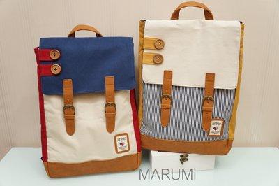 ☆MARUMi 雜貨☆【muumarju – 帆布鈕扣後背包】