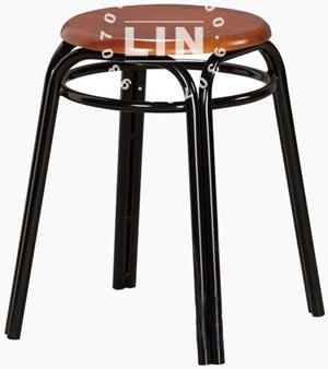 【品特優家具倉儲】A557-07餐椅洽談椅胡桃加圈雙管椅