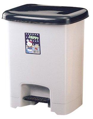 《上禾屋》小本踏式紙林531/垃圾桶/資源回收桶/腳踏掀蓋式/長方型桶身/附蓋31x26x39cm