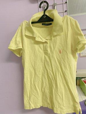 Polo established螢光黃短袖T恤/二手上衣/運動休閒Polo衫(S號)