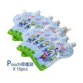 【M&B幸福小舖】英國Fill n Squeeze - Pouch奇趣袋  副食品分裝袋 10pcs