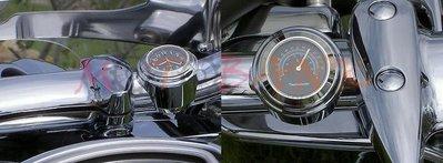 [MOTOBANK] 夜光防水時鐘表 溫度表 鋁合金 通用機車時鐘 溫度 時鐘表 野狼 哈雷 檔車 重機 KTR