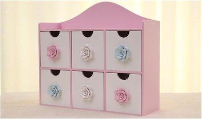 粉紅玫瑰精品屋~玫瑰桌面整理盒 韓國時...