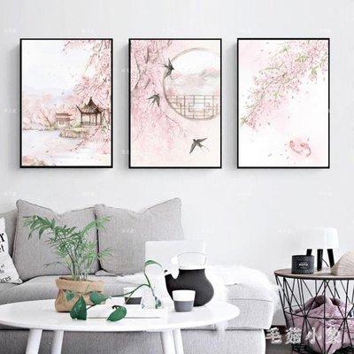 ZIHOPE 風景三聯鉆石畫滿鉆客廳粘貼點鉆十字繡臥室鉆石繡餐廳2019新款5DZI812