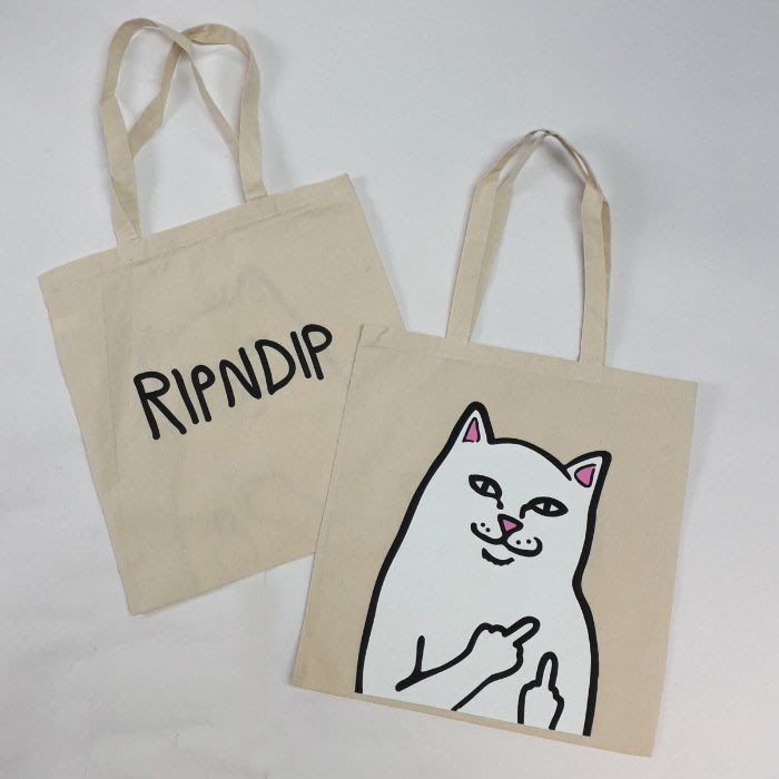 【Luxury】RIPNDIP Lord Nermal & My Little Nerm 手提袋 帆布 環保袋 代購