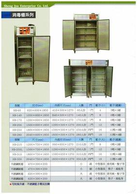全新 HB-250 消毒櫃250人份 / 殺菌洗碗消毒櫃