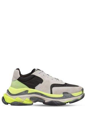 ~The Black Dan Moccani~ [新款] BALENCIAGA Triple S 灰x黃 三疊橡膠老爹鞋