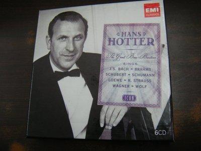 年輪二手書 古典音樂 CD Hans Hotter 男低音霍特的EMI偉大錄音集 6CD EMI