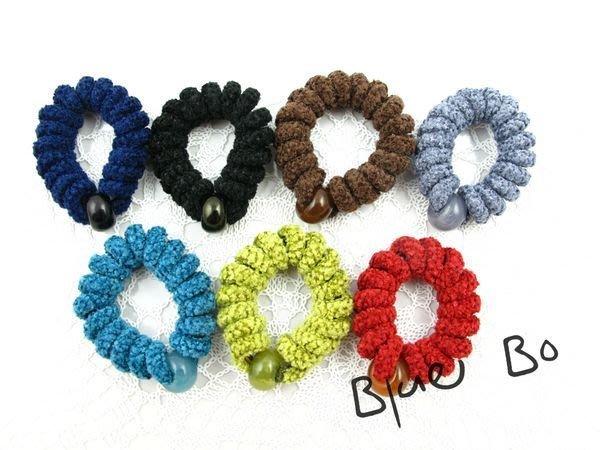~*BlueBo*~ 韓國飾品   秋冬新款  針織感電話線髮束  橡皮筋/大腸圈/髮飾/綁綁