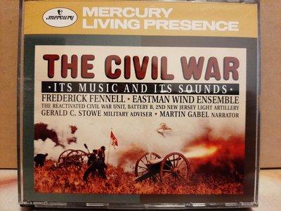 The Civil War,Fennell,Eastman Wind Ensemble,美國南北戰爭音樂,芬奈爾指揮,2CD,TAS發燒碟,如新