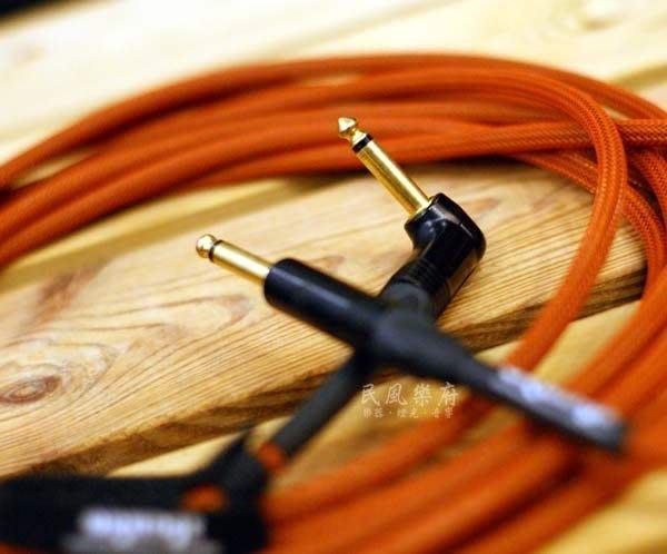 《民風樂府》英國名牌 ORANGE CA-JJ-ANIN-OR-20 6米 L頭 專業樂器導線 Monster 可比較