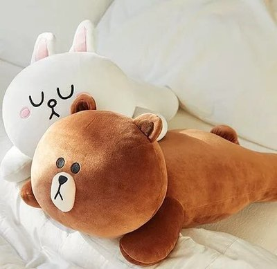 現貨😍熊大布朗熊趴趴枕可妮兔抱枕毛绒玩具情侣靠枕玩偶情人節生日禮物娃娃