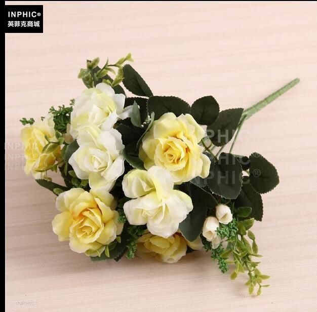 INPHIC-歐式模擬花藝套裝客廳裝飾假花家居飾品花瓶插花擺放花卉絹花-D款_S01870C