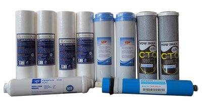 回不去了*這個月才有*限量超值*RO淨水器一年份NSF濾心含75G RO膜10支特價668元。