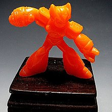【 金王記拍寶網 】(常5) W5117 早期台灣袖珍老玩具 洛克人 老品一隻 絕版罕見稀少 (櫥櫃袖珍品老玩具珍藏)