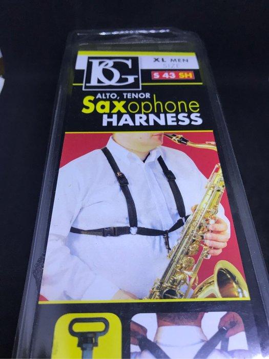 筌曜樂器(I2006)全新 BG 薩克斯風( 43SH) 雙背 X型 吊帶 (另有40.41.42可選)