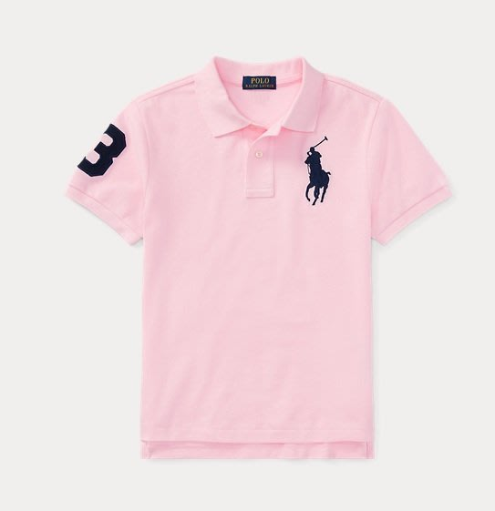 POLO  Ralph Lauren  大馬 短袖 polo衫 大男童/青年款 現貨 粉色