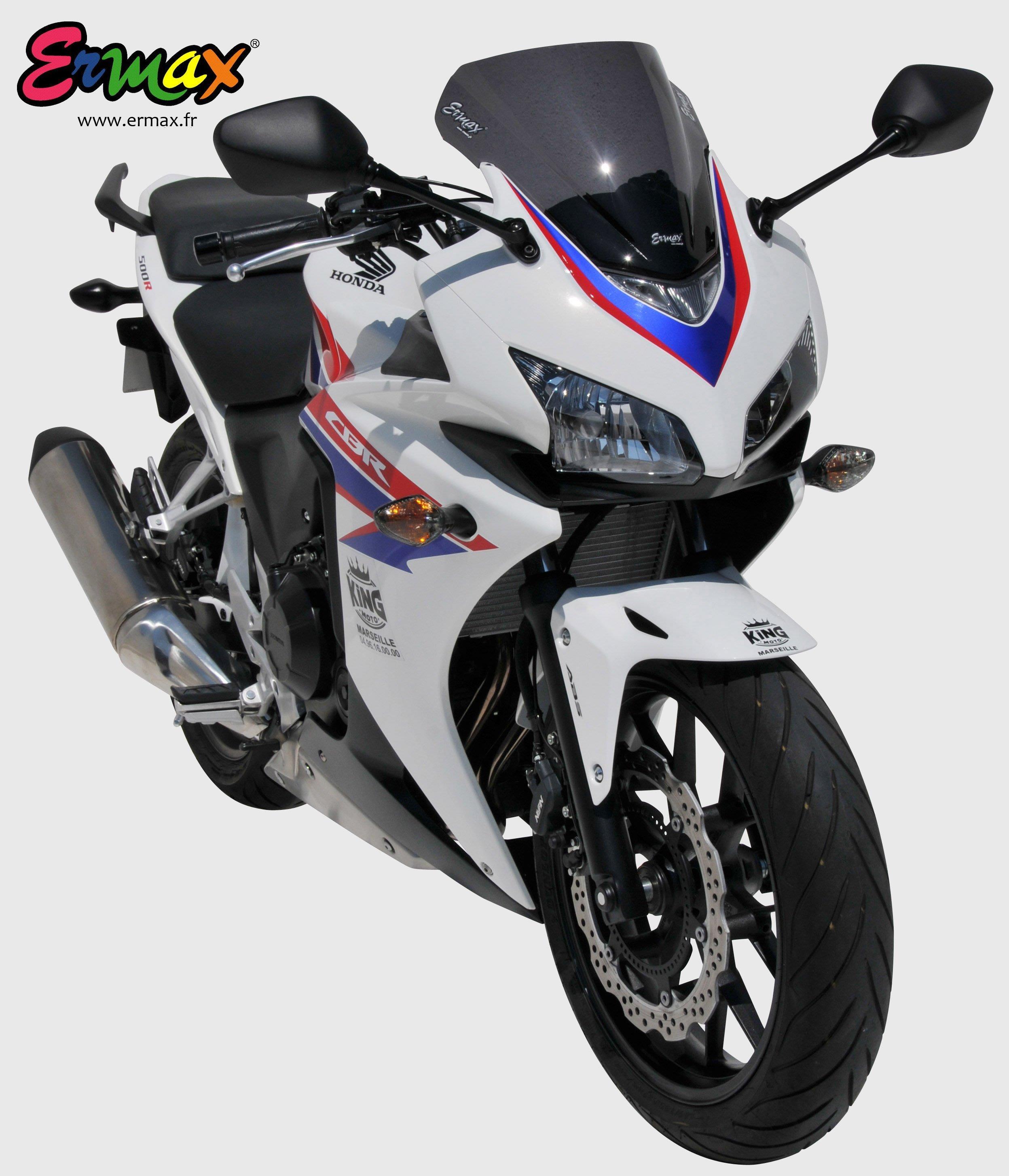 ERMAX HONDA CBR500R 風動款高角度風鏡 消光色