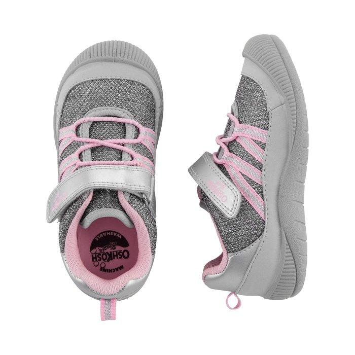 【Carter's】CS女童運動鞋粉帶灰 F03191002-09