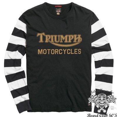 ♛大鬍子俱樂部♛ TRIUMPH ® IGNITION COIL 皮衣 英國 原裝 凱旋 復古 騎士 長袖 純棉 T恤