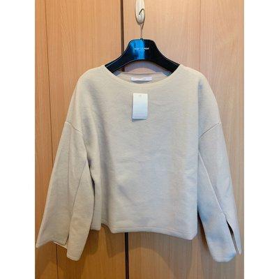 Korea Cherrykoko warm beige wool blouse top shop cos zara maje韓國秋冬超靚保暖米白色羊絨針織襯衫