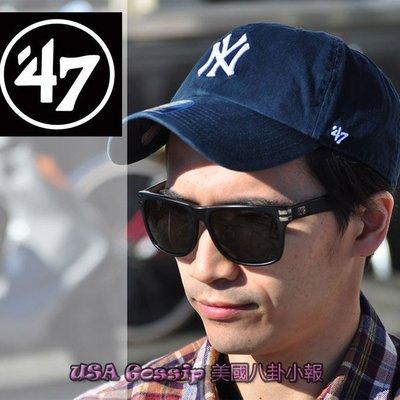 ㊣ 美國八卦小報 ㊣ 孫芸芸同款 YANKEE 洋基 47 棒球帽 白色/深藍 現貨在台灣 可調整帽圍