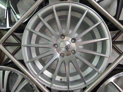 ╭☆輪鋪☆╯(VF2) 類VOSSEN VFS2 17吋4孔100/4孔114.3 消光銀鋁圈