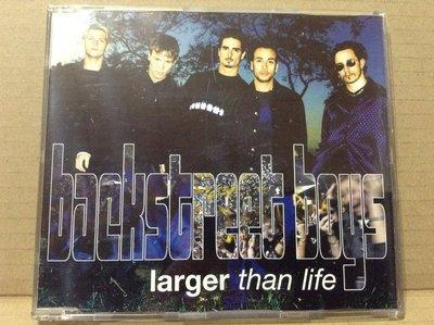 ~拉奇音樂~新好男孩 Backstreet boys  larger than life 單曲 二手保存良好片況新