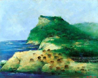 [可議價,歡迎出價] 韋啟義 風景系列 2004 30號 油畫 (油彩、寫實、台灣、嘉義、本土)