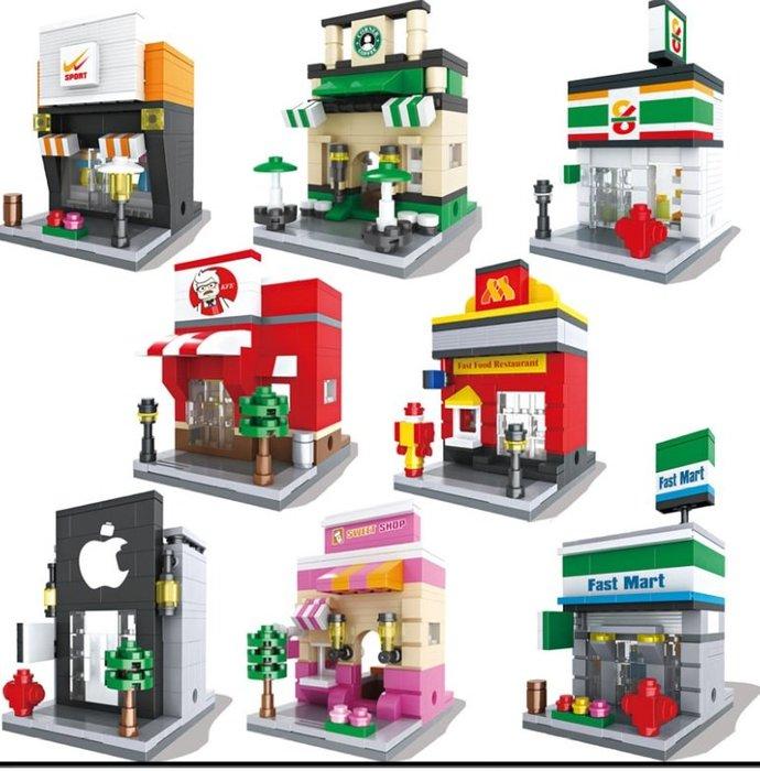 ☆積木好好玩☆【現貨】新款HSANHE 恒三和6401-6408益智玩具 迷你街景積木玩具