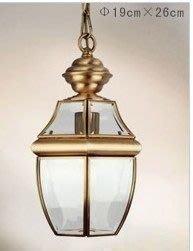 {美學}歐式吊燈全銅燈具戶外吊燈餐廳燈過道燈陽臺燈1801MX-2073