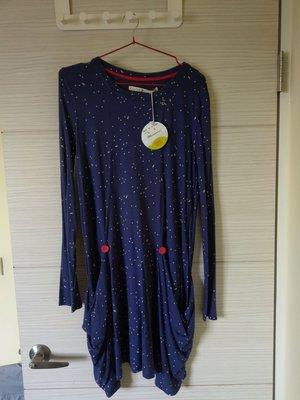 【全新附吊牌】a la sha 深紫色點點設計師款長袖連身洋裝短洋 iroo zara moma 現貨 黃淑琦