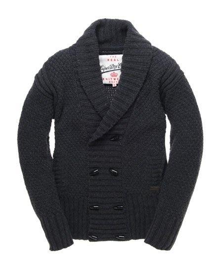 極度乾燥 Superdry Parliament Duffle Cardigan 針織衫 羊毛衫 羊毛 外套 深灰M