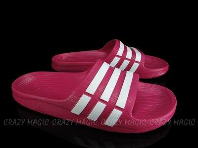 ADIDAS DURAMO K SLIDE 基本款 大童 拖鞋 一體成型 桃白 # G06797女生可穿
