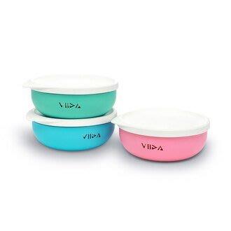 ♡NaNa Baby♡VIIDA - Soufflé 抗菌不鏽鋼餐碗 五色可選