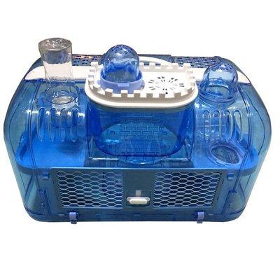 ☆汪喵小舖2店☆ 鼠來堡-外掛屋鼠籠 // 透明城堡、含接孔、滾輪、小屋、水瓶、食盒