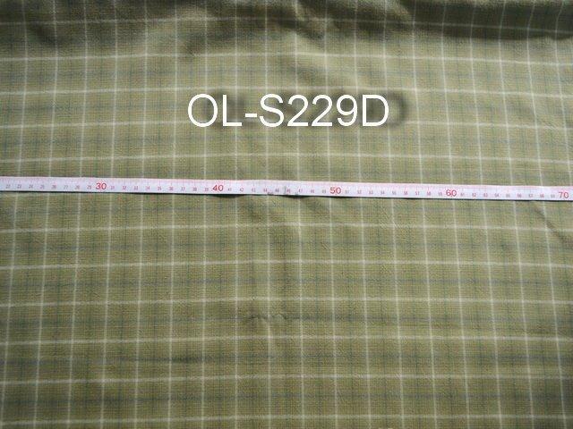 巧巧布拼布屋*編號JPS007日本進口OLYMPUS~ S229D 方格款淺綠色先染布