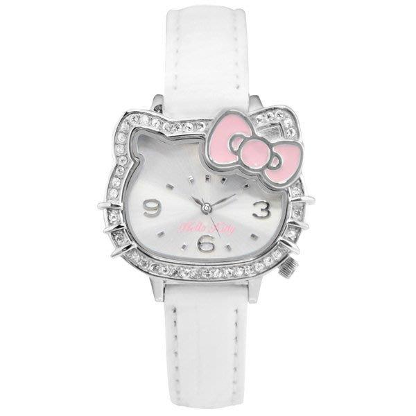 日本SANRIO Hello Kitty〈凱蒂輪廓可愛風,水鑽閃亮動人〉 (LK620LWWW-S)
