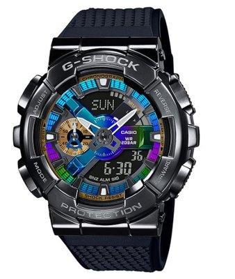 【天龜】CASIO G-SHOCK    重工業風金屬雙顯手錶  GM-110B-1A