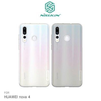 --庫米--NILLKIN HUAWEI nova4 本色TPU軟套 超薄保護套 透明殼 手機殼