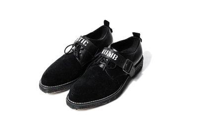 美國東村【SlightlyNumb X Vatic】POINTED TOE CREEPER 聯名款 尖頭 字樣 皮鞋