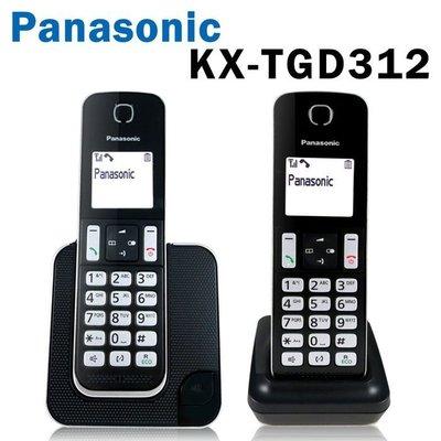 【贈羽毛電容筆】【台灣松下原廠公司貨】Panasonic 國際牌 KX-TGD312 數位無線電話 1.8吋螢幕