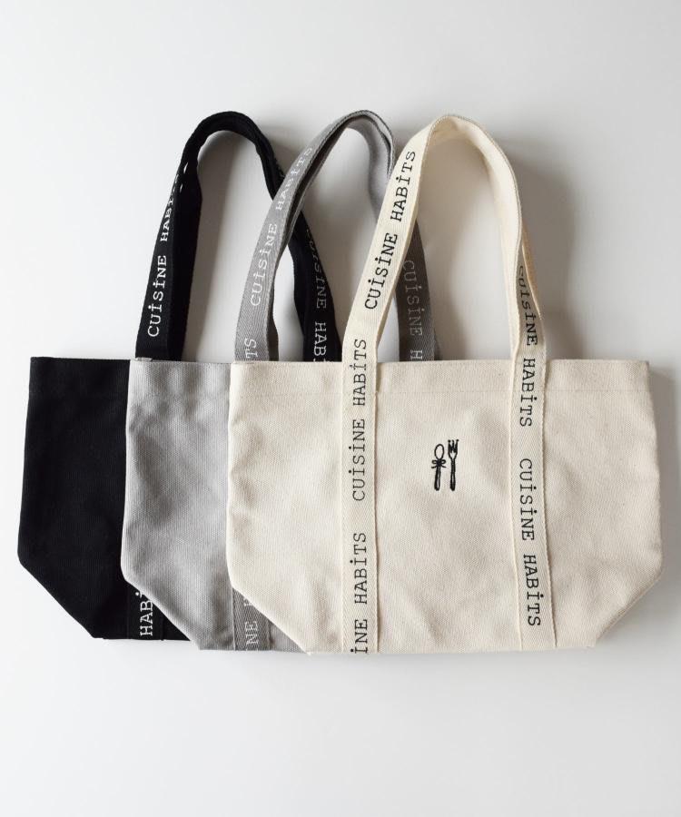 全新日本正品 CUISINE HABITS LOGO TAPE TOTE/ロゴテープトートバッグ 厚實帆布手提包