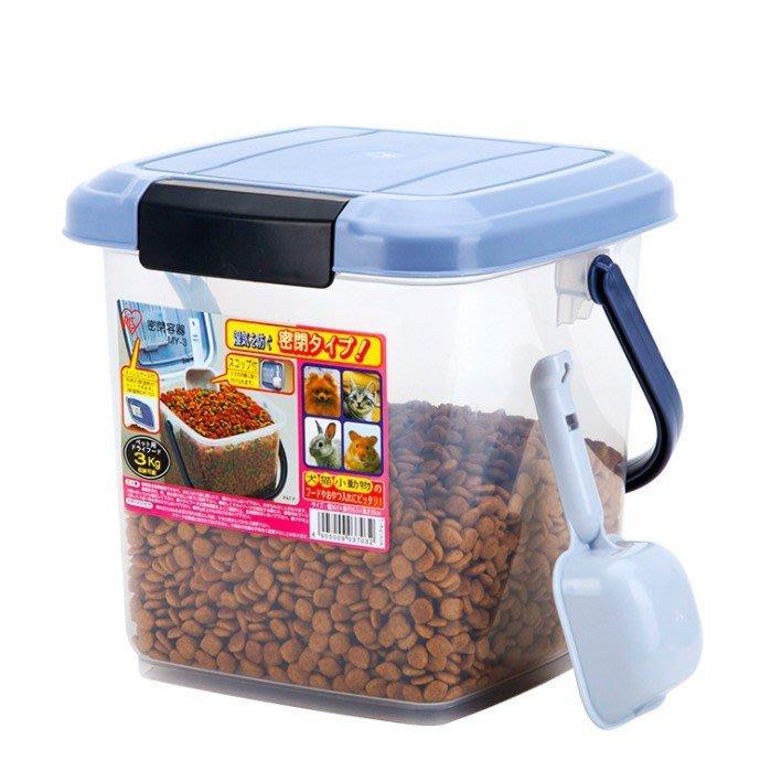 【🐱🐶培菓寵物48H出貨🐰🐹】IRIS 犬貓飼料密封桶MY3--可裝3kg 飼料桶 附鏟子&除濕包 特價369元