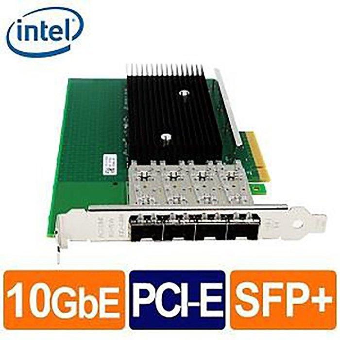 Intel X722-DA4FH 10G 四埠 光纖/Fiber 網路卡(Non-GBIC) 盒裝 乙太網路網路介面卡