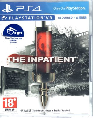 PS4遊戲 PSVR遊戲 絕命患者 The Inpatient 中英文亞版【板橋魔力】